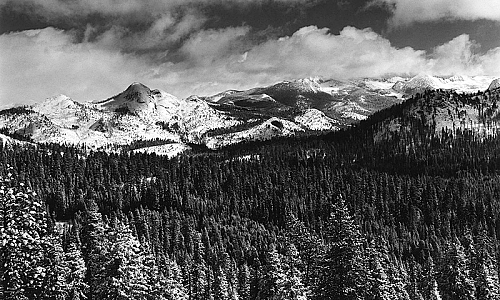 Mt. Starr King and Clark Range, Winter
