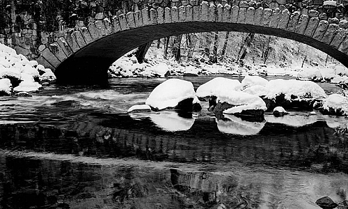 Pohono Bridge, Winter